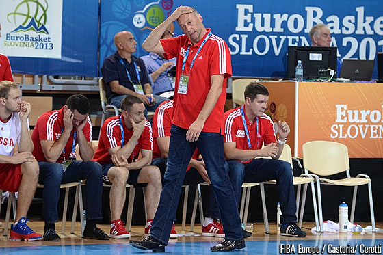 Russia head coach Sergey Karasev