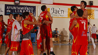 Spanish Team Celebrating