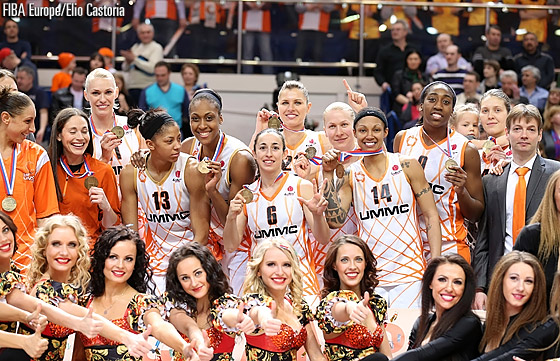 Hosts UMMC Ekaterinburg are crowned champions at the EuroLeague Women Final Eight 2013