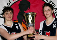 The faces of YOWB in Georgia - Lia Chekurishvili (#5), 33 and Miranda Mgaloblishvili (#14), 20