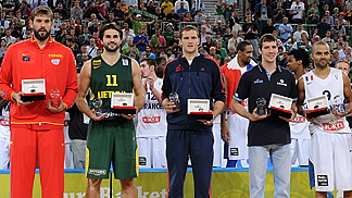 EuroBasket 2013 All Tournament Team: Tony Parker (France), Linas Kleiza (Lithuania), Marc Gasol (Spain), Bojan Bogdanovic (Croatia), Goran Dragic (Slovenia)