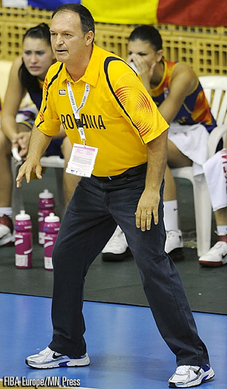 Romania Head Coach Dan Calancea