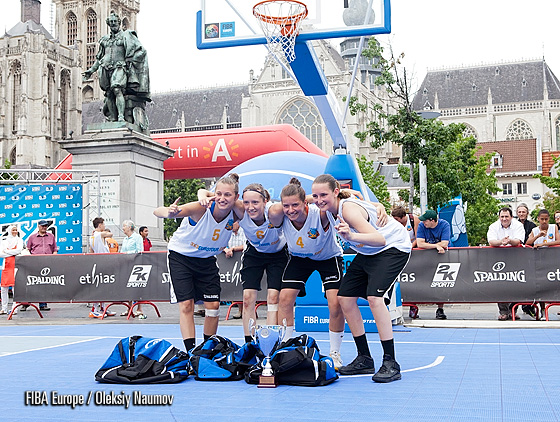 Kapoentja - winners of senior women tournament at 3x3EuroTour Antwerp Stop