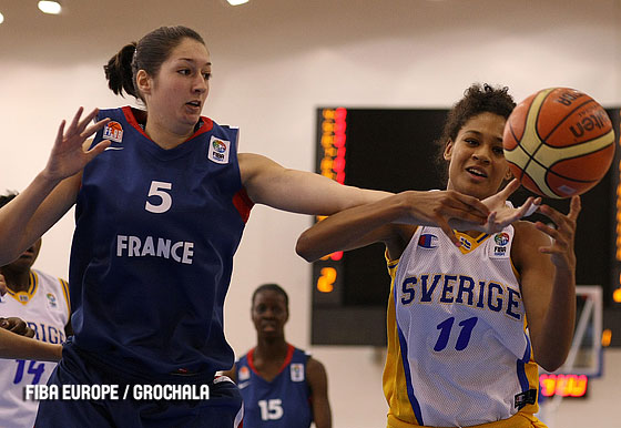 Laury Aulnette (France, left), Nathalie Fontaine (Sweden)