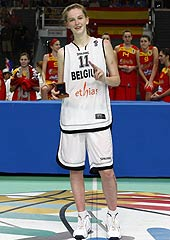 Tournament MVP Emma Meesseman (Belgium)