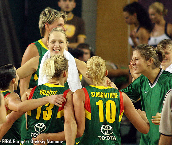 Lithuanian players celebrating