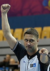 Boris Ryzhyk, seen here officiating at EuroBasket 2013, is one of the 14 European officials nominated to oversee games at this years FIBA World Cup
