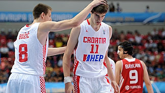 8. Luka Bozic (Croatia), 11. Dragan Bender (Croatia)