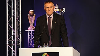 FIBA Europe Secretary General Kamil Novak at the club competition draw