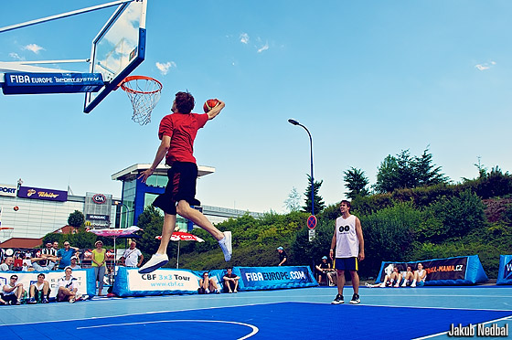 Jan Vesely at the FIBA Europe 3on3 Tour event in Prague, 16 and 17 June 2012