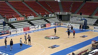 Venue of the European Championship U18 Men 2004: Pabellon Principe Felipe in Zaragoza