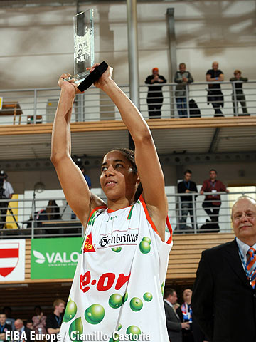MVP of the EuroLeague Women Final Four 2006: Nykesha Sales (Gambrinus Sika Brno)
