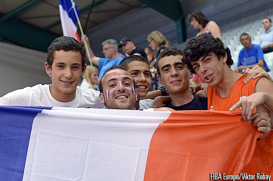 French fans at the U18 European Championship Women
