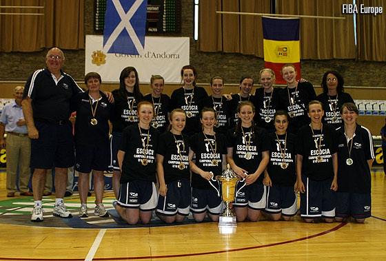 Scotland are crowned champions at the 2010 U16 European Championship Women Division C
