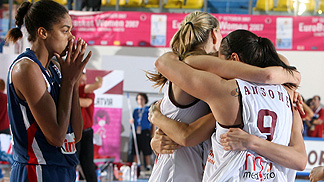 Latvian Team Celebrating
