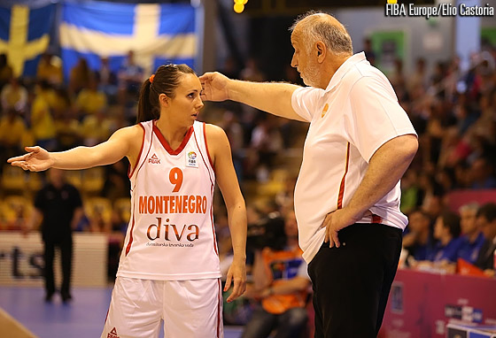 Snezana Aleksic and head coach Miodrag Baletic