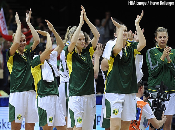 Lithuania wave good bye to France after the first round