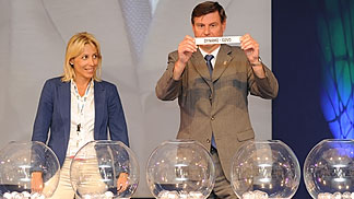 EuroLeague Women and EuroCup Women 2011/12 Draw - Fenerbahce General Manager Didem Akin assists with the draw