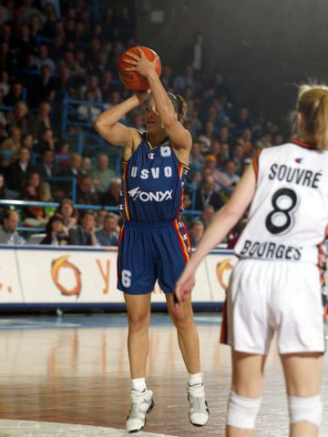 Allison Feaster (Valenciennes) at the 2003 EuroLeague Women Final Four