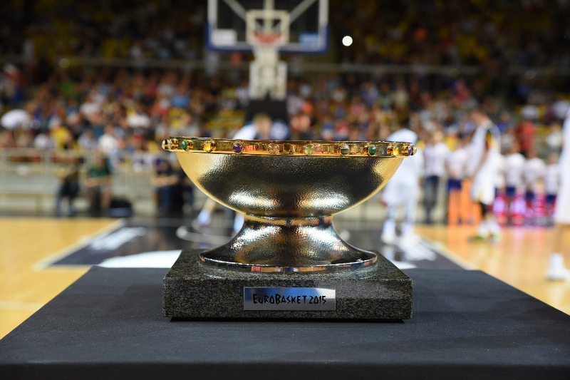 EuroBasket 2015 Trophy Tour at the test game France v Germany in Strasbourg