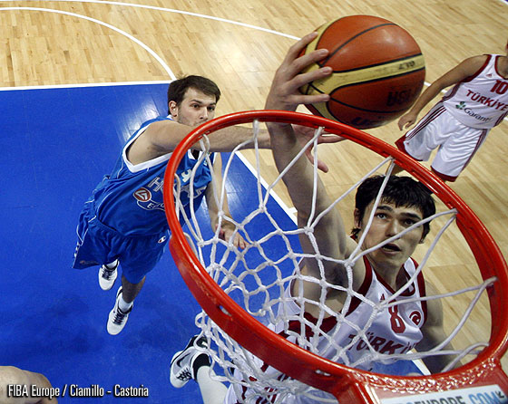8. Ersan Ilyasova (Turkey), 9. Antonios Fotsis (Greece)
