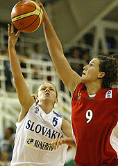 Dóra Horti (Hungary) and Simona Markiová (Slovak Republic)