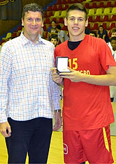 Montenegro's Milos Popovic was named MVP of the tournament