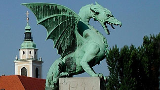 The Dragon: symbol of Ljubljana