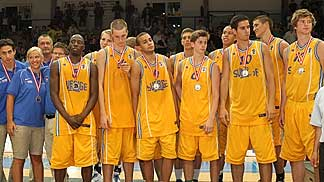 Sweden, runners-up at the U20 European Championship Men 2010 Division B
