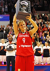 2010 World Championship for Women: Hana Horakova with the tournaments MVP trophy
