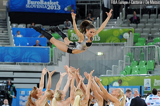 Cheerleaders at Stozice Arena