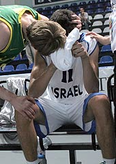 There's no consoling Lior Eliyhau after Israel's semi-final loss to Lithuania at the ACI Trading Ltd U20 European Championship