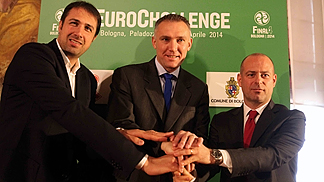 ECM Final Four press conference in Bologna / L-R: Alessandro Frosini, Kamil Novak, Alessandro Della Salda