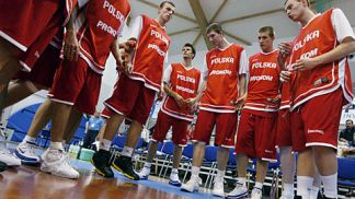 Polish team before the game