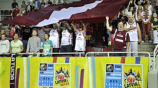 Latvian fans in Arena Riga