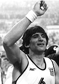 Greek guard Panayiotis Yiannakis at the 1987 European Championships