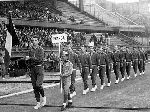 France at the opening ceremony of the 1959 European Championship in Istanbul