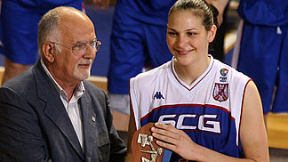 MVP of the UMCOR U18 European Championship Women 2006: Sonja Petrovic (SCG)