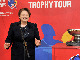 Latvian Prime Minister Laimdota Straujuma at the EuroBasket 2015 Trophy Tour stop in Riga