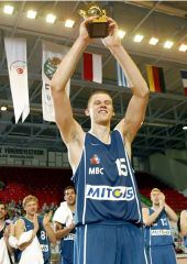 MVP of the FIBA Europe Cup Men Final Four 2004: Marijonas Petravicius (MBC)