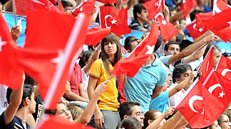 Turkey pleased the home crowd with their performance