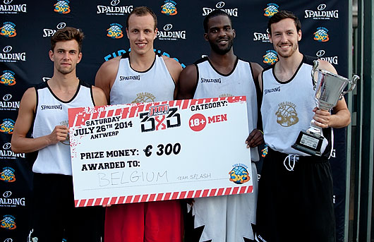 Team Splash - winners of 18+ men category. They will travel to Lausanne 3x3 World Tour Masters