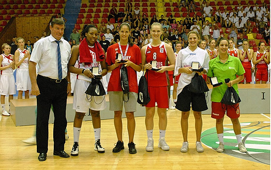 All Tournament Team: Shequila Joseph, Amadea Szamosi, Maryia Papova, Iva Kostova, Ines Viana