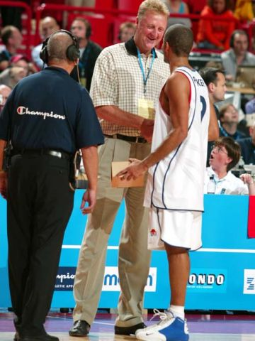 LARRY BIRD AND TONY PARKER (FRA)