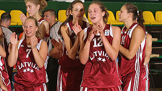 Team Latvia celebrate