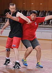Saso Filipowski helping out at the annual FIBA Europe referees clinic