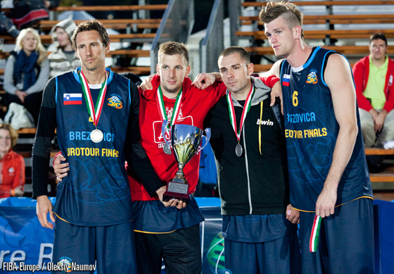 Leaving the Slovenians with a set of Silver medals