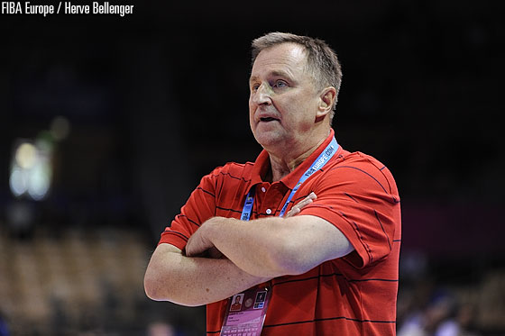Czech Republic head coach Lubor Blazek