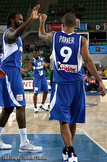 9. Tony Parker (France), 14. Ronny Turiaf (France)