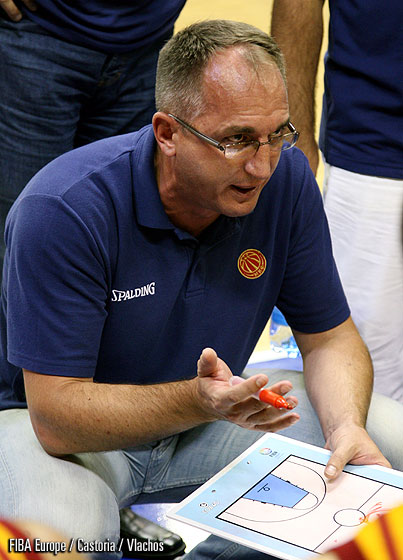 F.Y.R. of Macedonia Head Coach Jovica Arsic